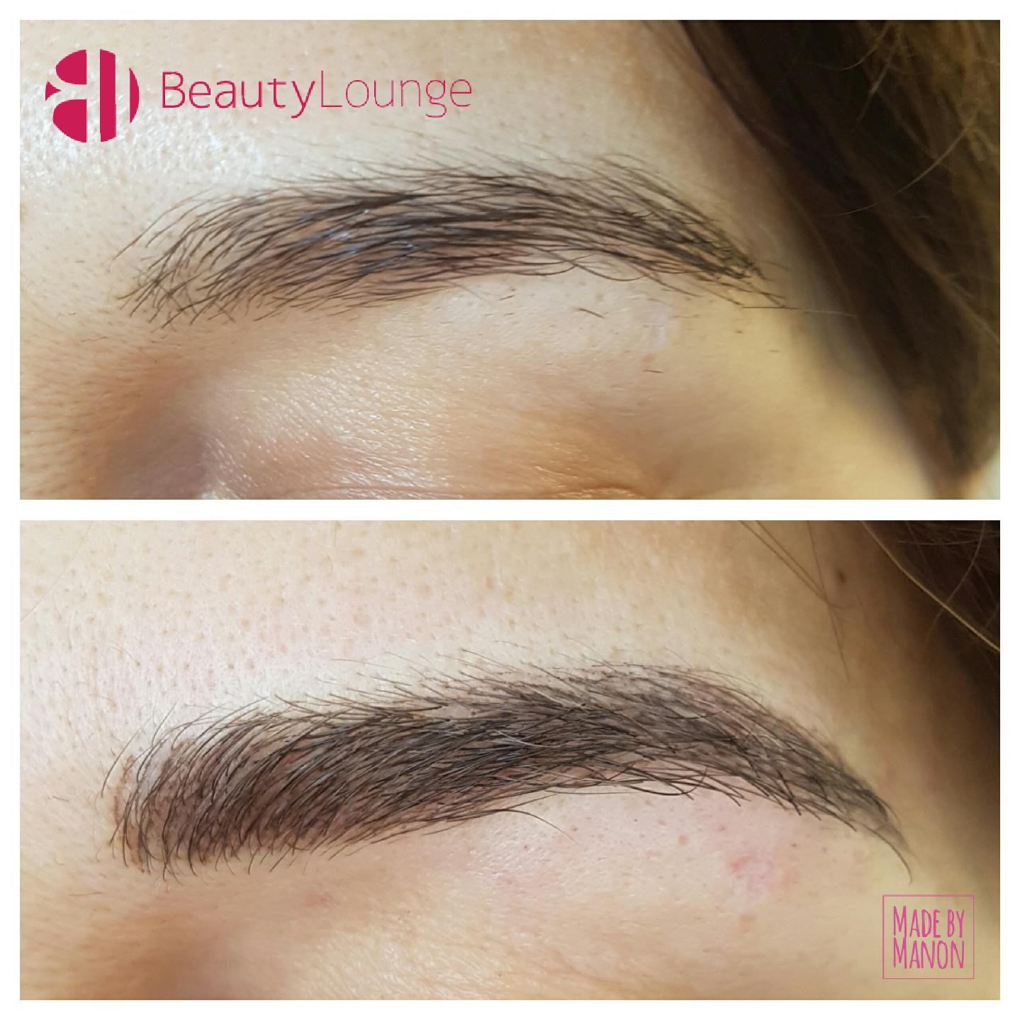voor en na foto's permanente make-up wenkbrauwen haarlem heemstede velsen