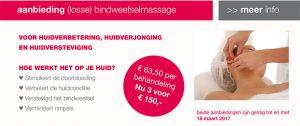 Bindweefselmassage actie prijs. huidverbetering